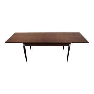 Mid-Century Modern Design Extendable Draw Leaf Dining Table For Sale