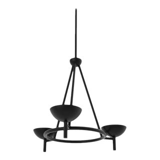 Contemporary 200 Chandelier in Blackened Brass by Orphan Work, 2020 For Sale