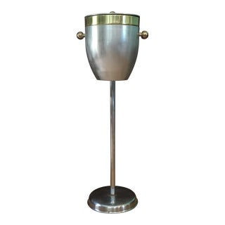 Mid-Century Champagne Bucket and Stand