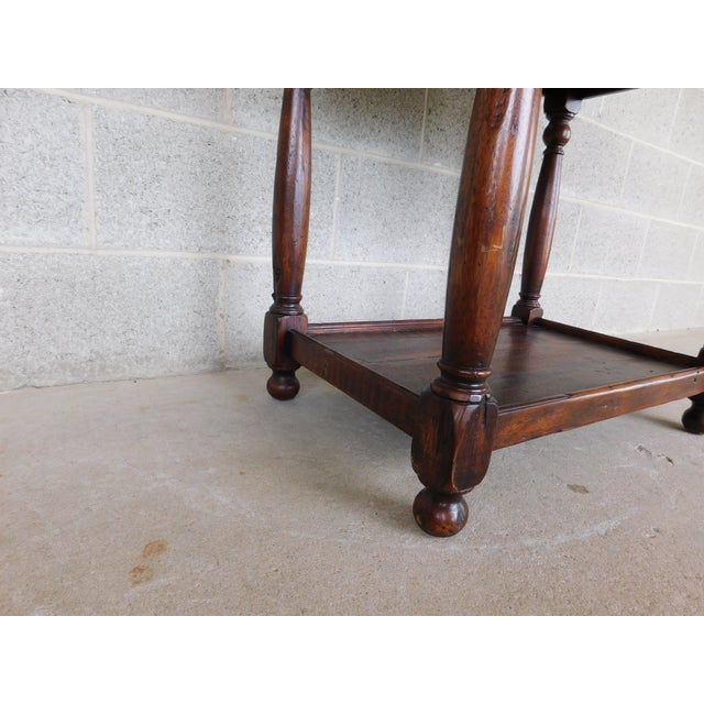 Wood Theodore Alexander Castle Bromwich Collection 1 Drawer Accent Table For Sale - Image 7 of 12