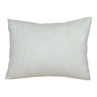 Textural Raw Silk Japanese Kushiori Obi Lumbar Pillow Cover For Sale