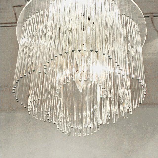 Sciolari Style Clover Glass Chandelier - Image 3 of 4