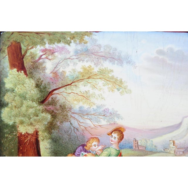 French 19th C. French Painted Porcelain Plaque For Sale - Image 3 of 9