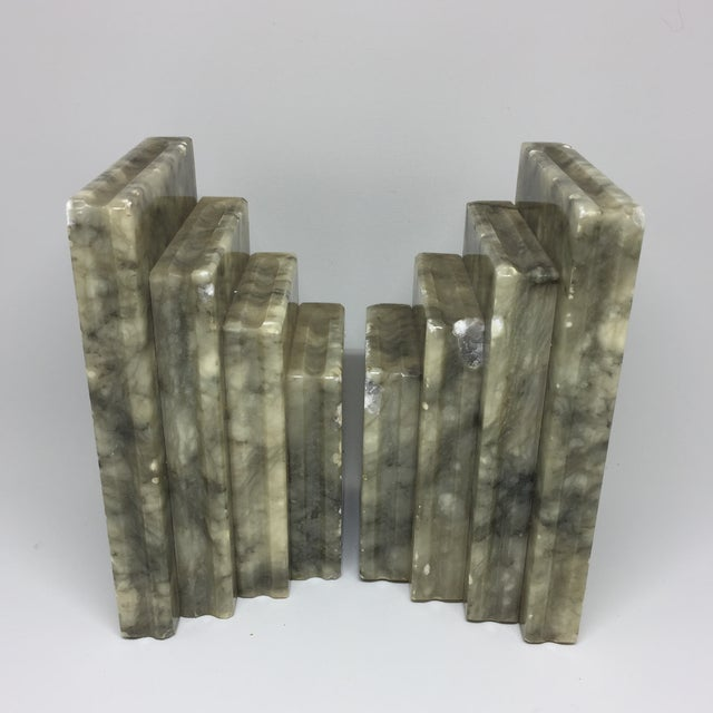 Marble Stacked Books Bookends - A Pair - Image 5 of 8