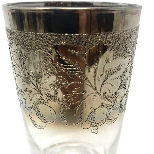 19491a8838d Dorothy Thorpe Mid-Century Modern Dorothy Thorpe Silver and Crystal  Highball Glasses - Set of