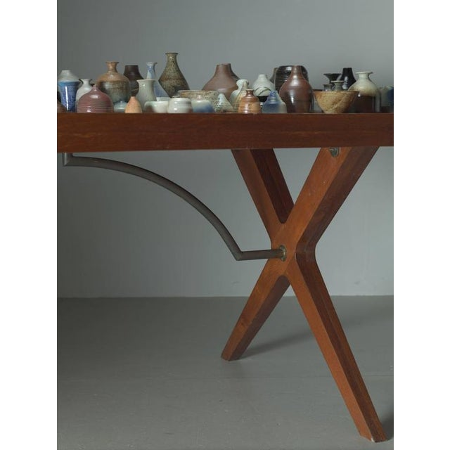 L.E Brevilly Extremely Large Boomerang Shaped Desk, France, circa 1965 For Sale - Image 6 of 6