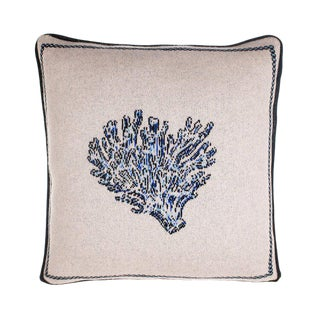 Fee Greening - Coral Cashmere Pillow For Sale