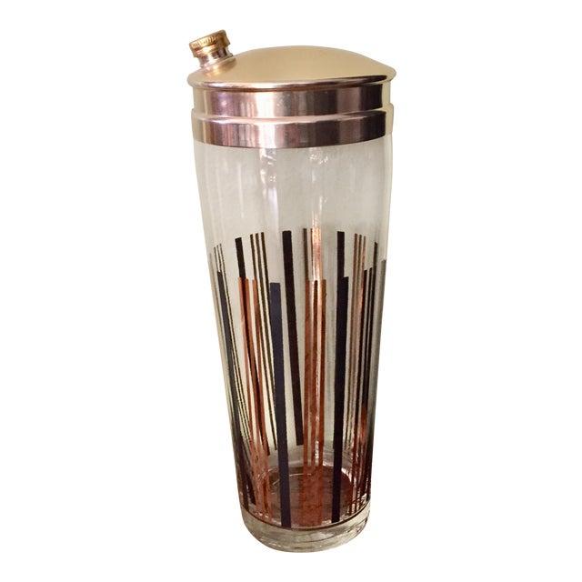 Black & Gold Cocktail Shaker For Sale