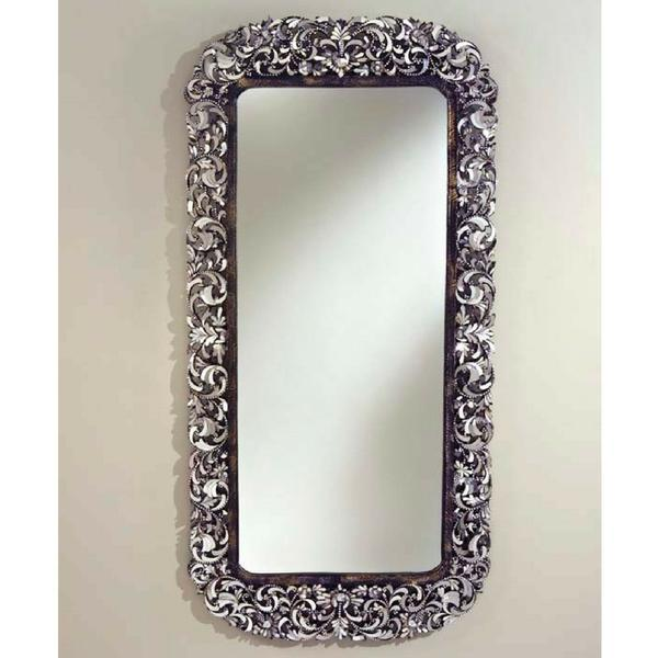 Long handcut glass mirror chairish for Long glass mirror