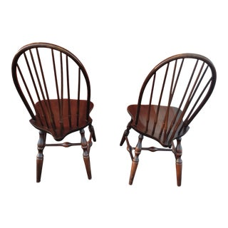 Nichols & Stone Windsor Side Chairs - a Pair For Sale