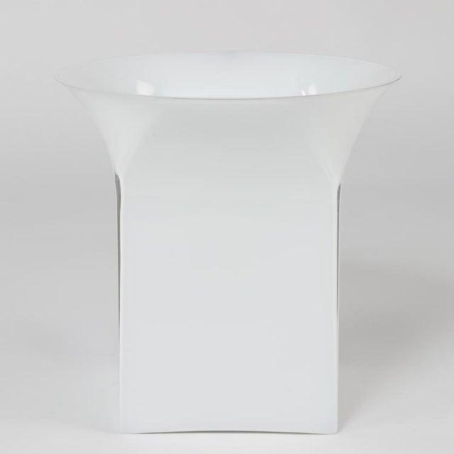 Incredible Large Sergio Asti For Venini Clear Over White Glass Vase