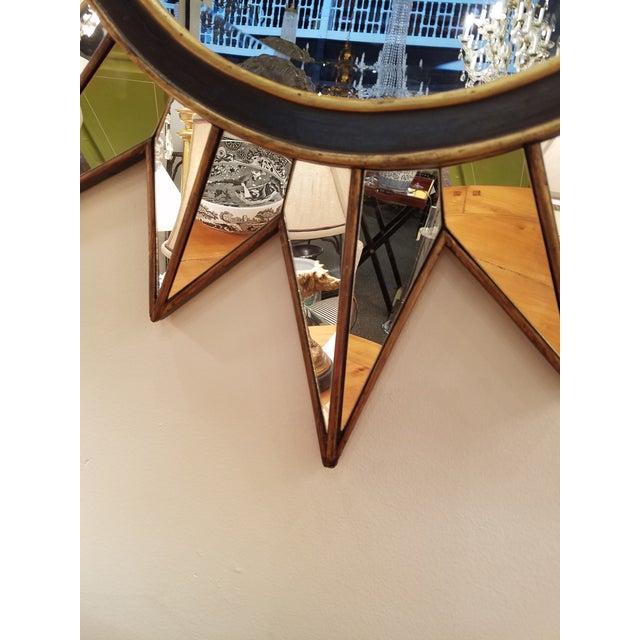 Modern Gold & Black Mirrored Sunburst Beveled Mirror - Image 3 of 3