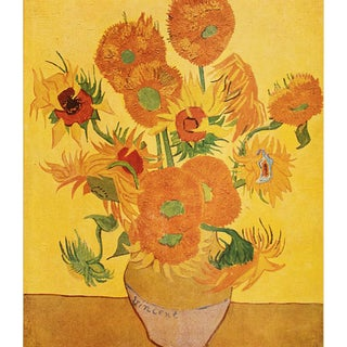 "1947 Vincent Van Gogh ""Sunflowers"", First Edition Swiss Lithograph For Sale"