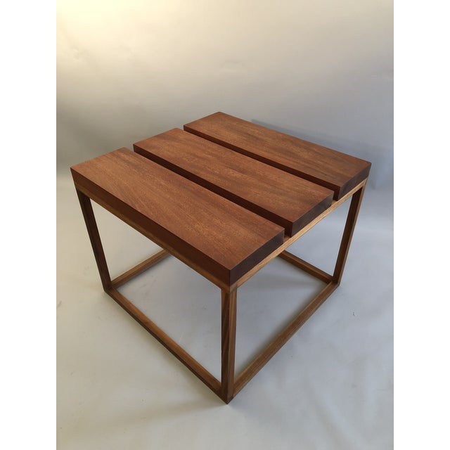 Contemporary Robert Bristow 3 Block Table For Sale - Image 3 of 9