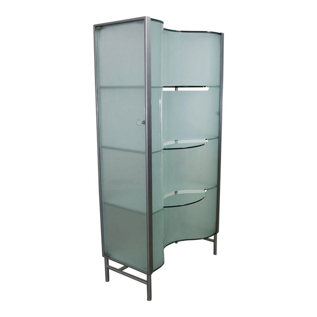 Modern Dual Sided Glass and Metal Enclosed Display For Sale - Image 13 of 13