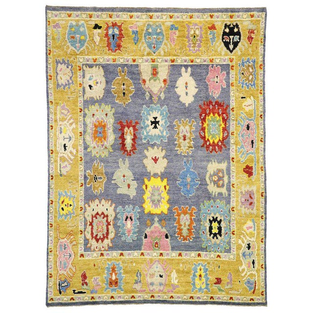 Contemporary Oushak Inspired Area Rug - 9′3″ × 12′5″ For Sale - Image 9 of 9