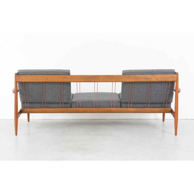 Modern Grete Jalk Danish Sofa by France and Daverkosen Freshly Reupholstered
