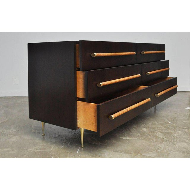 Mid 20th Century T.H. Robsjohn-Gibbings Dresser with Brass Legs For Sale - Image 5 of 8