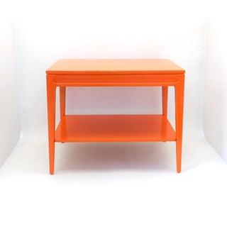 Mid Century Modern Orange Mersman End Table Preview