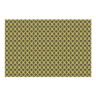 Fern Trellis Burnt Olive/Acacia Linen Cotton Fabric, 6 Yards For Sale