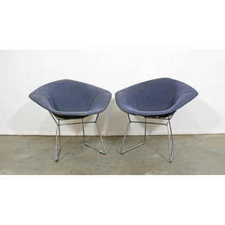 Pair of Mid-Century Modern Authentic Harry Bertoia Knoll Chrome Diamond Chairs Preview