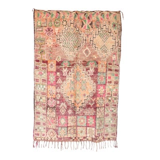 """Boujad Vintage Moroccan Rug, 5'5"""" X 8'3"""" Feet"""