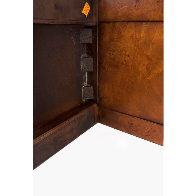 Burlwood Mid-Century Modern Milo Baughman Burl Wood Console Table For Sale - Image 7 of 10