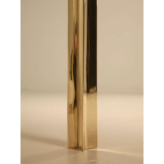 Gold Custom Made Modern Brass & Onyx Dining Table For Sale - Image 8 of 11