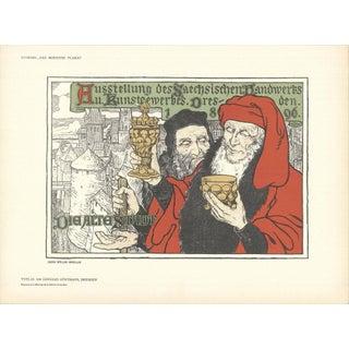1897 Georg Muller-Breslau Dresden, Die Alte Stadt Lithograph For Sale