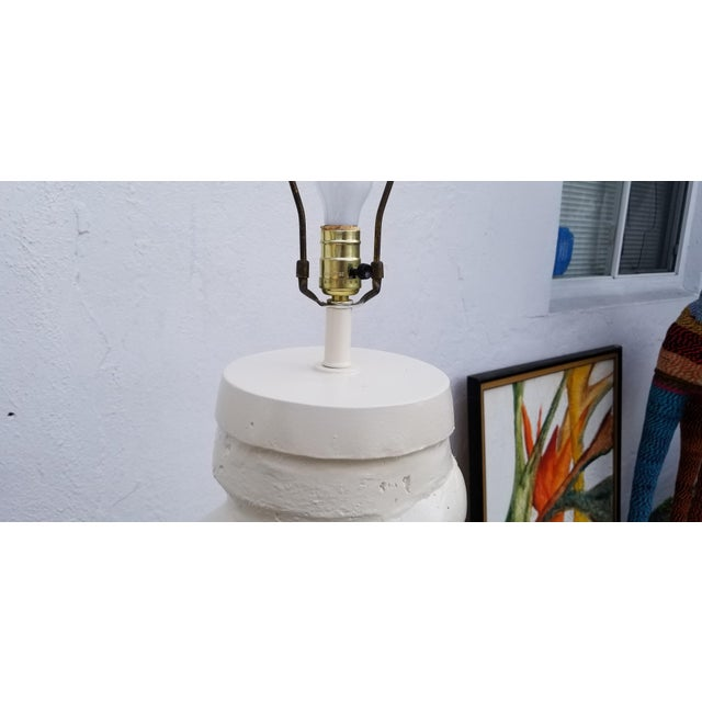 1970s Hollywood Regency Michael Taylor Plaster Floor Lamp For Sale - Image 9 of 13