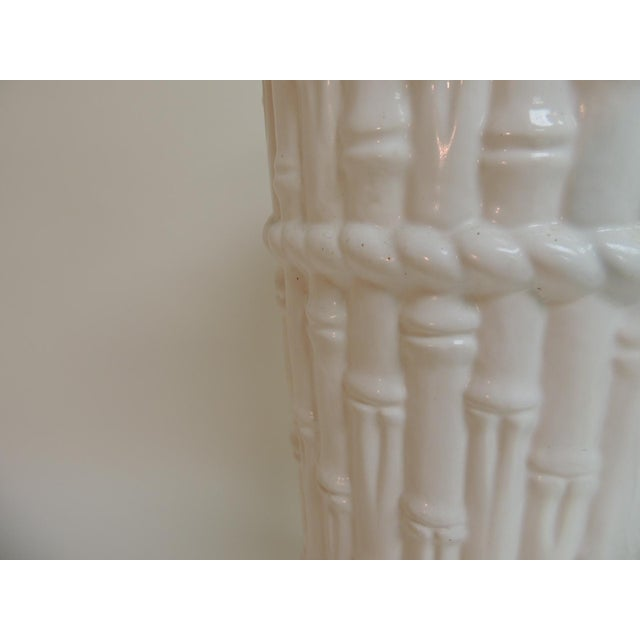 Vintage Faux Bamboo Ceramic Umbrella Stand - Image 4 of 4