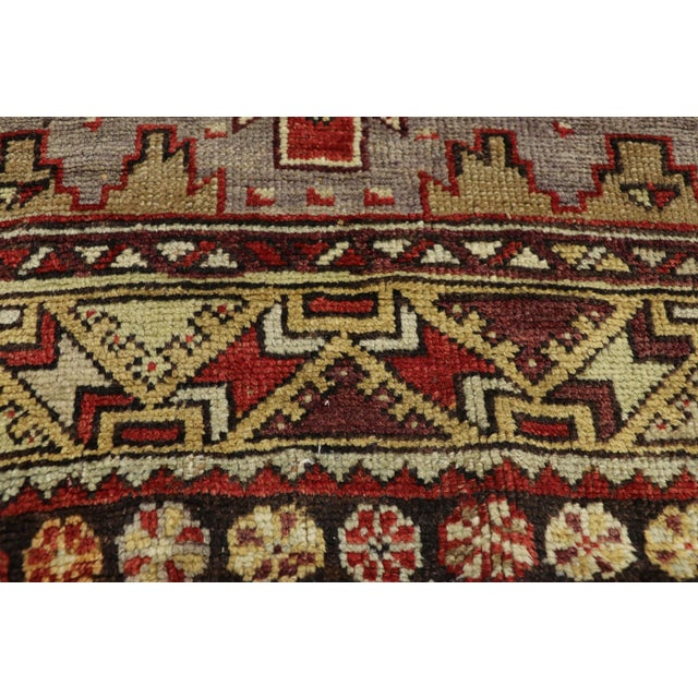 Vintage Mid-Century Turkish Oushak Runner Rug - 3′9″ × 10′8″ For Sale In Dallas - Image 6 of 11