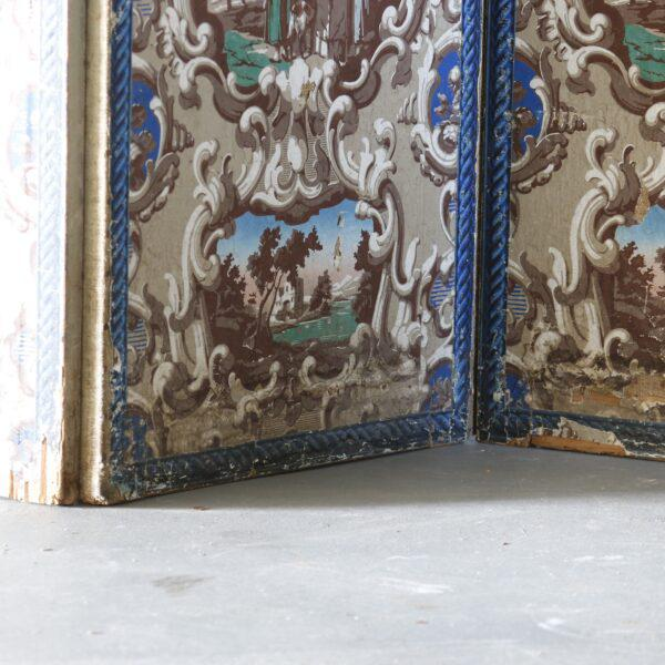 Late 19th Century French Wallpaper Screens - A Pair For Sale - Image 4 of 6