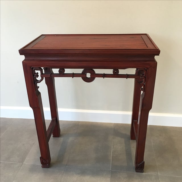 Beautiful Carved Chinese Rosewood Alter Table.