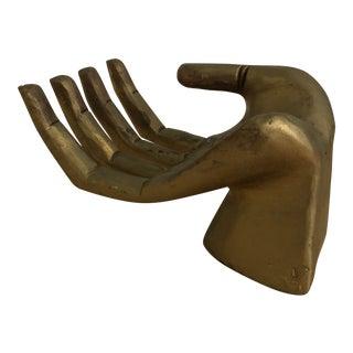Gold Wooden Hand Trinket Stand