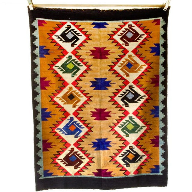 Woven in Andes Mountains of Peru by master artisan weavers. Each design and geometric shape has symbolic meaning in...