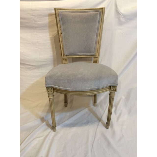 These Louis XVI style chairs date to ca. 1900 and are in truly excellent condition. Brand new gray upholstery and solid...