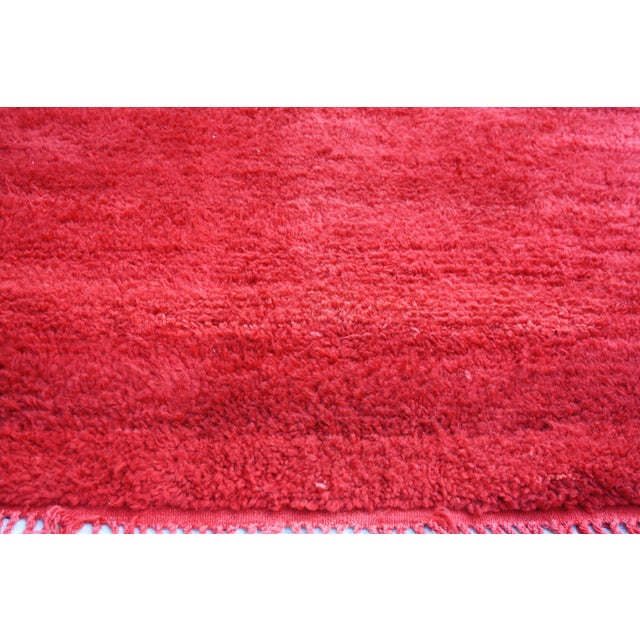 Moroccan Red Wool Rug - 10'5'' X 6' - Image 3 of 3