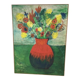 Modern Floral Oil Painting For Sale