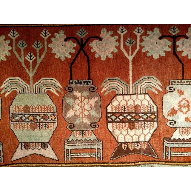 Vintage Khotan Vase Carpet - 5′ × 8′ For Sale - Image 10 of 13
