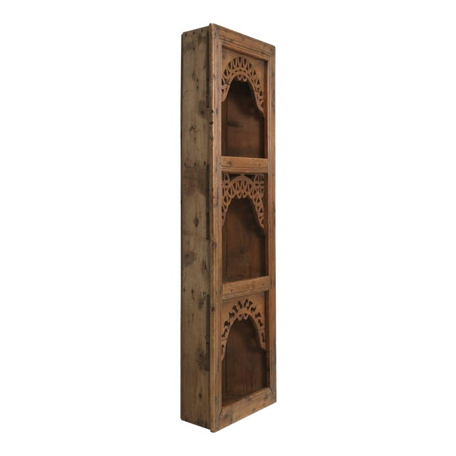 Antique Pine Hanging Shelf Unit, or Open Cupboard For Sale