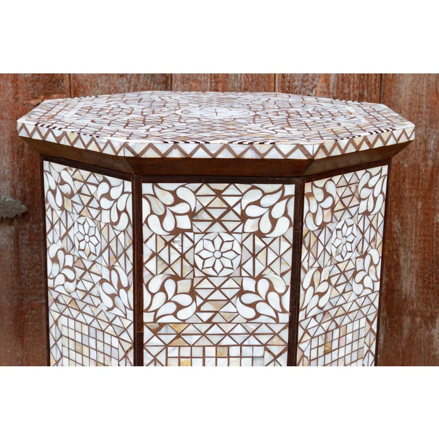 Syrian Mother of Pearl Inlaid Table For Sale In Los Angeles - Image 6 of 10