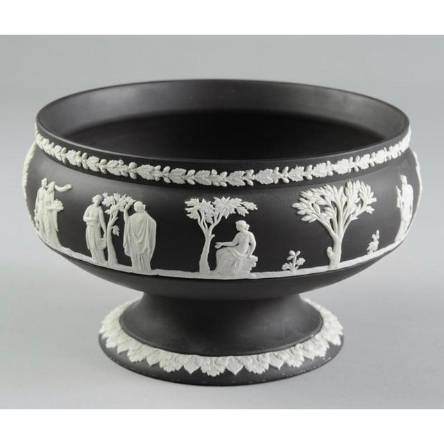 Early 20th Century Early 20th Century Wedgwood Black Jasperware Footed Bowl For Sale - Image 5 of 5
