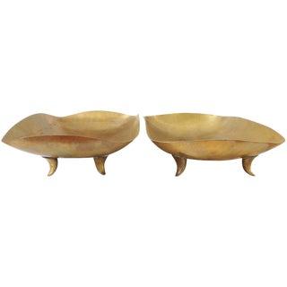 Karl Hagenauer Sculptural Brass Trays - A Pair