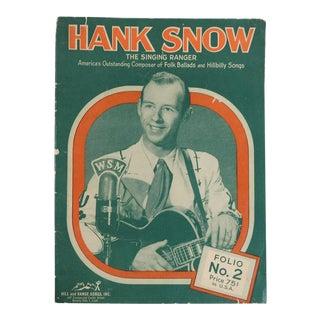 1951 Hank Snow Music Folio For Sale