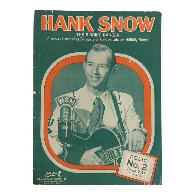 1951 Hank Snow Music Folio For Sale