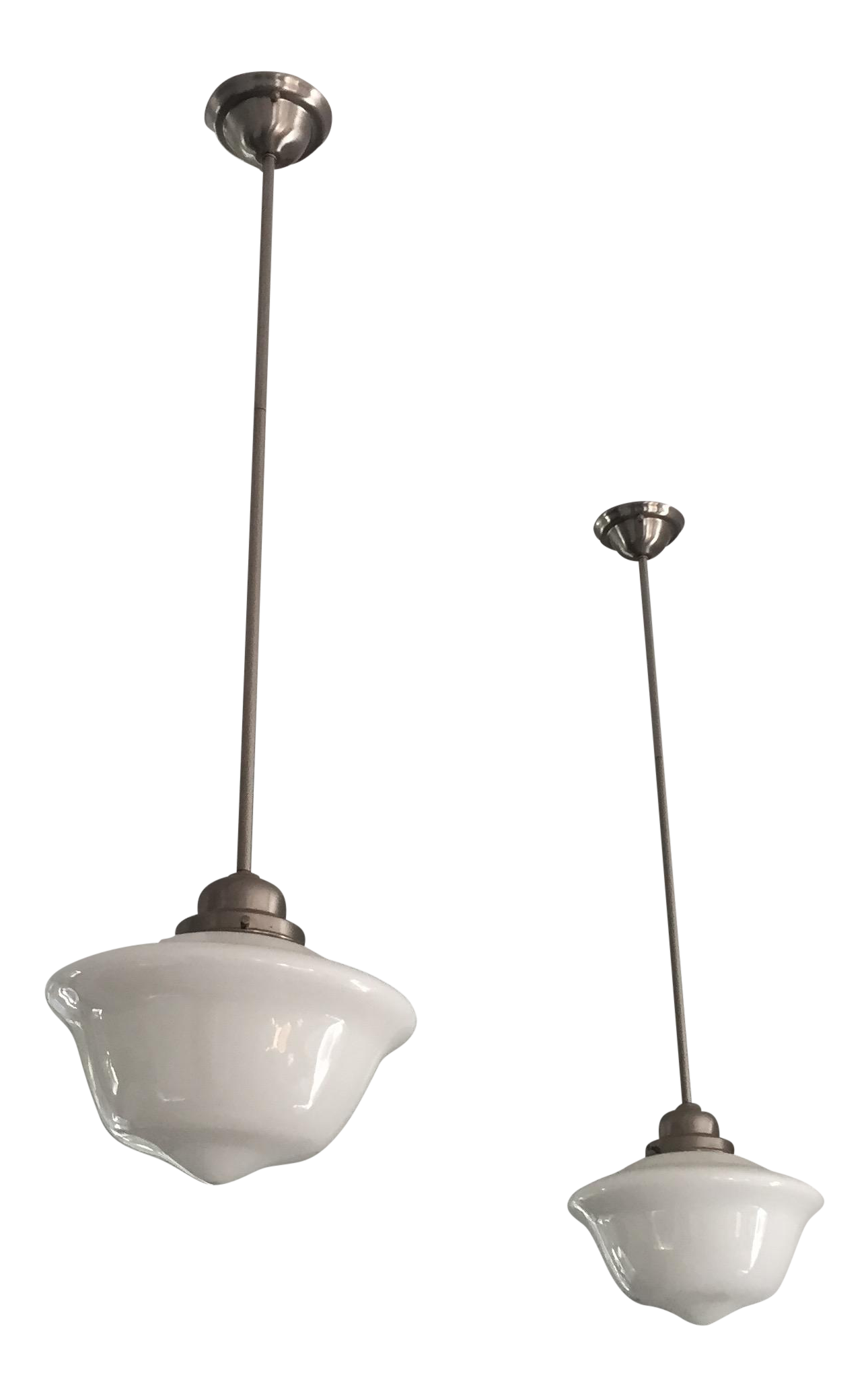 Restoration Hardware Schoolhouse Pendant Lights - A Pair  sc 1 st  Chairish & Restoration Hardware Schoolhouse Pendant Lights - A Pair | Chairish