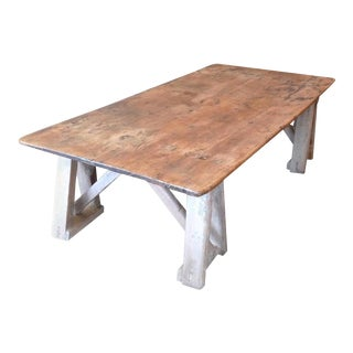 19th Century French Stained Pinewood Coffee Table For Sale