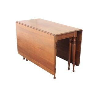 Neoclassical Gateleg Dropleaf Table