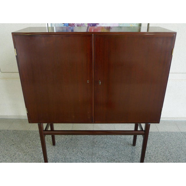 1960s Danish Rungstedlund Mahogany Highboard by Ole Wanscher for Poul Jeppesen For Sale - Image 5 of 13